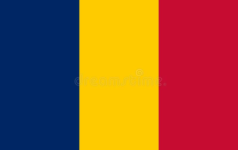 Chad Flag Vector Icon illustration libre de droits