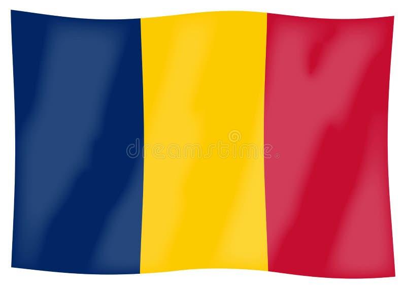 Chad Flag Waving illustrazione vettoriale