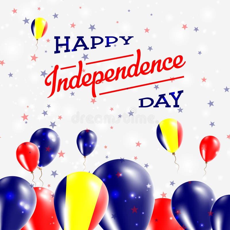 Chad Independence Day Patriotic Design illustrazione di stock