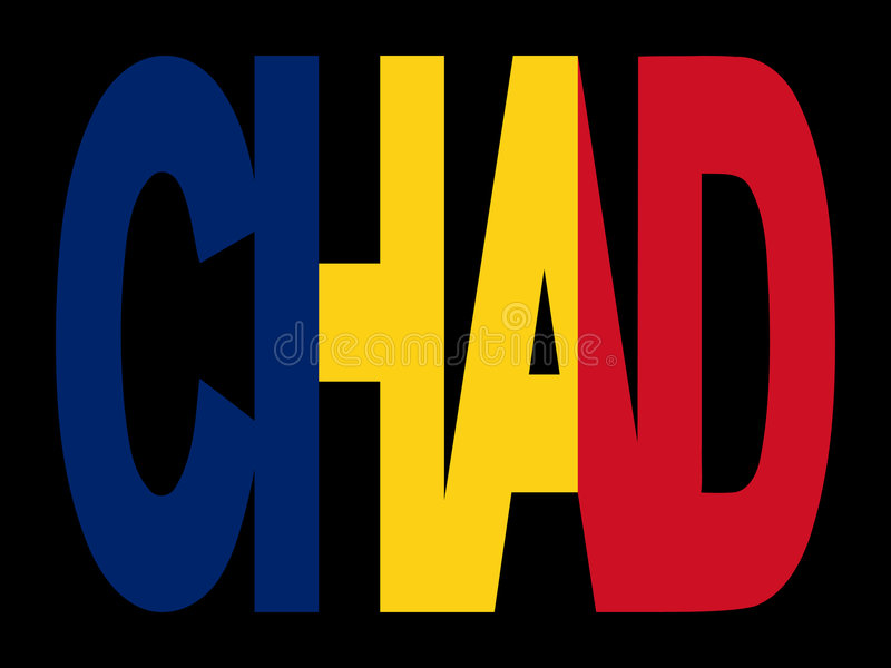 Download Chad text with flag stock vector. Illustration of chad - 4201183