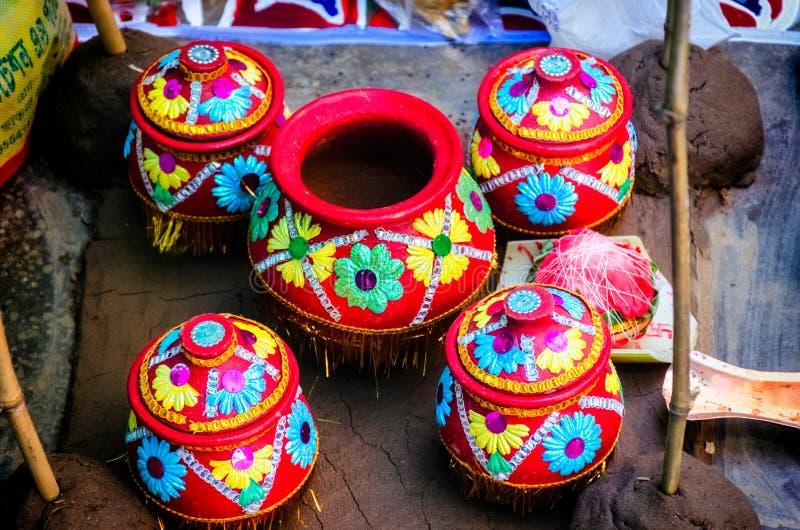 Chadnatala Hinduska Indiańska ślubnej ceremonii święta scena obraz royalty free