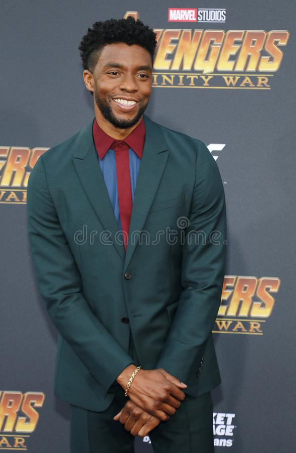 Chadwick Boseman. At the premiere of Disney and Marvel`s `Avengers: Infinity War` held at the El Capitan Theatre in Hollywood, USA on April 23, 2018 royalty free stock photo