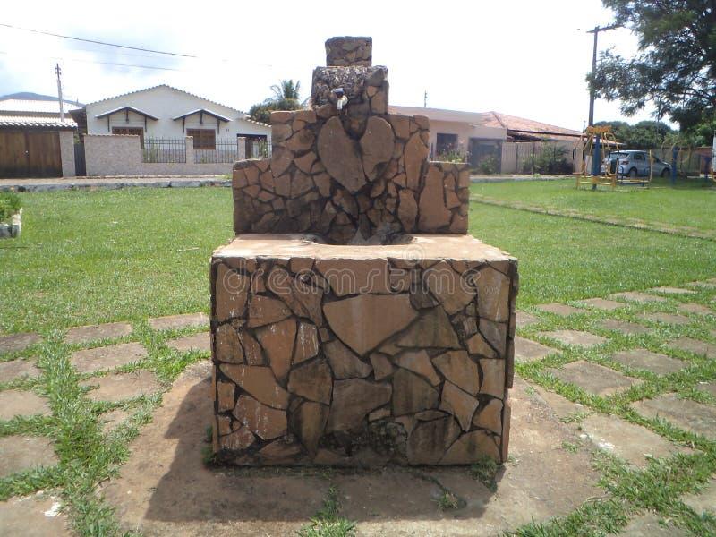 Chafariz em Barrão de Cocais. Fountain, with mineral water, old building, in the city of Barrão de Cocais, Minas Gerais stock images