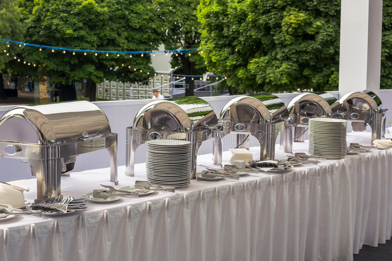 Chafing schotel buffet royalty-vrije stock foto