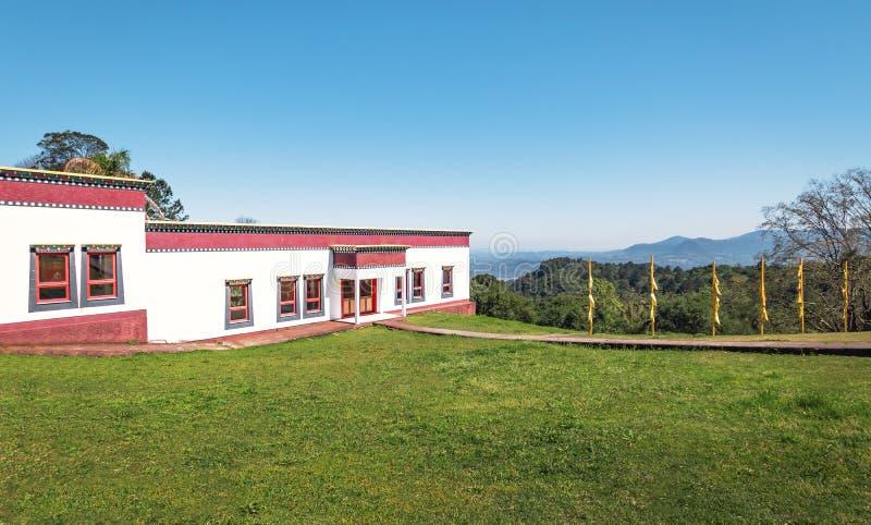 Chagdud Gonpa Khadro石楠佛教寺庙-特雷斯Coroas,南里奥格兰德州,巴西 免版税库存照片