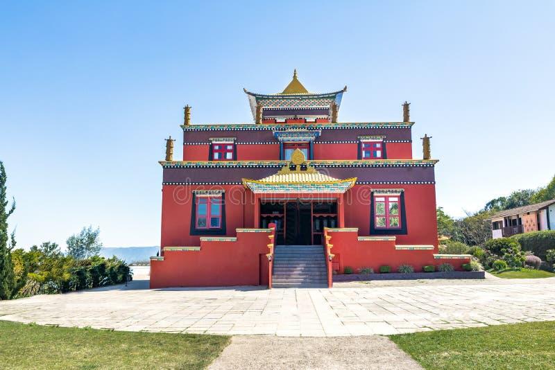 Chagdud Gonpa Khadro石楠佛教寺庙-特雷斯Coroas,南里奥格兰德州,巴西 库存图片