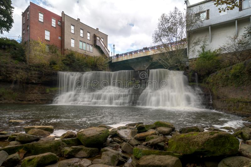 Chagrin Falls Ohio royalty free stock images