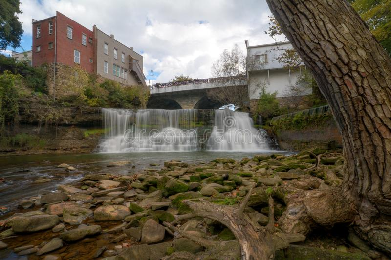 Chagrin Falls Ohio Waterfall stock photos