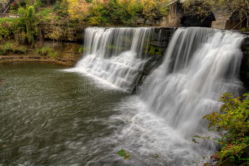 Chagrin Falls Ohio Waterfall stock images
