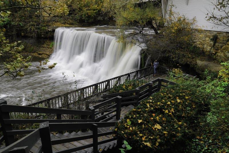 Chagrin quedas, Ohio imagens de stock royalty free