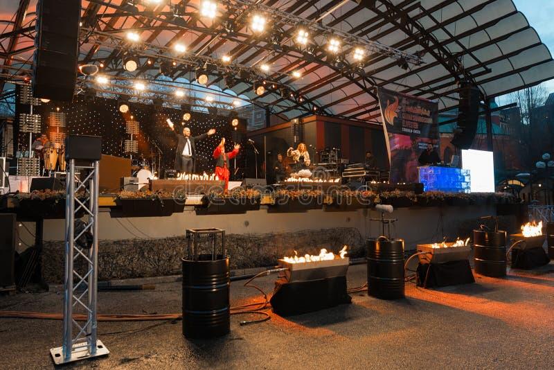 Chaharshanbe Soori ou um festival de salto do fogo persa fotos de stock royalty free