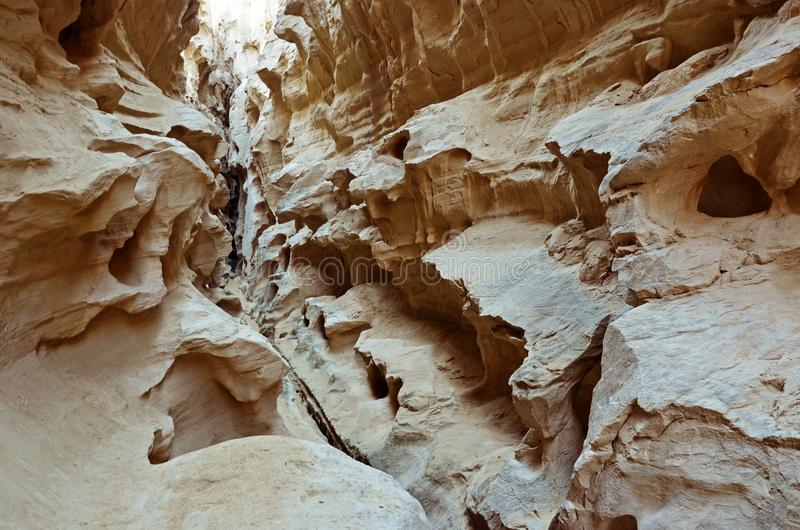 Chahkuh Canyon, Qeshm Island, Iran. Chahkuh in Qeshm Island of Persian Gulf, Iran. A natural monument in Qeshm Geopark stock photo