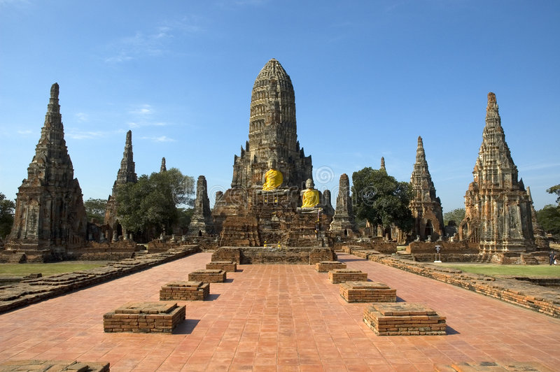 Chai ayutthaya wata watthanaram Thailand zdjęcie royalty free