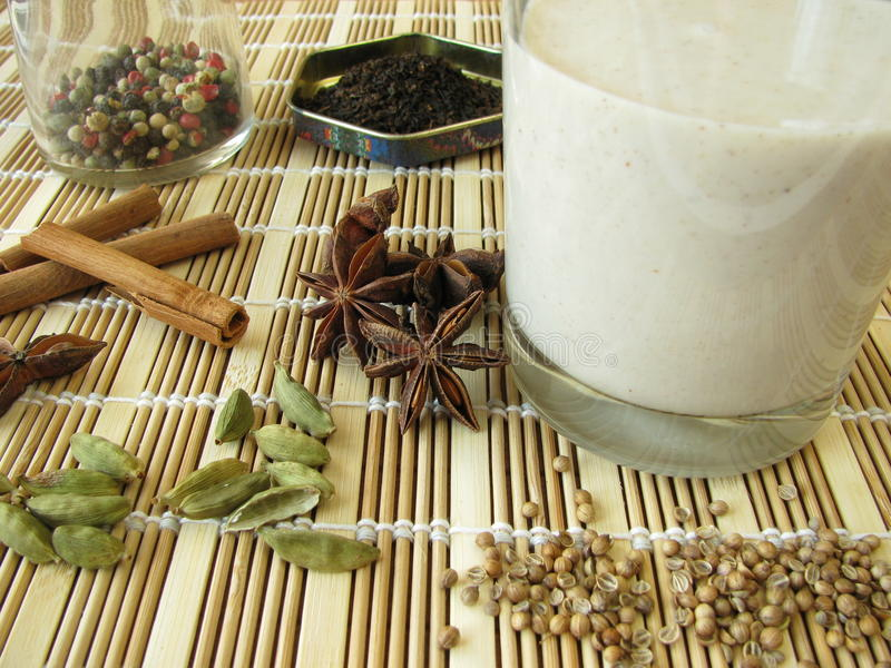 Download Chai lassi stock image. Image of drink, cinnamon, product - 22045273