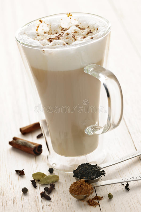 Download Chai Latte drink stock image. Image of drinks, foamy - 21381707