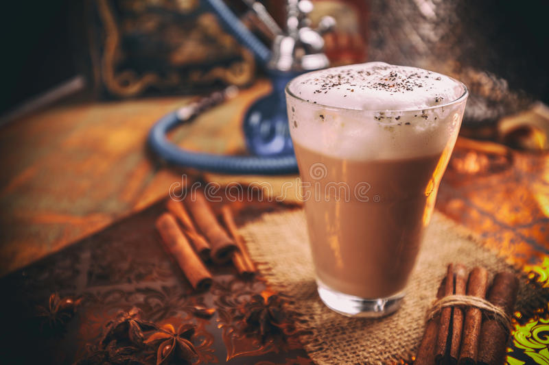 Chai latte spiced tea stock photography