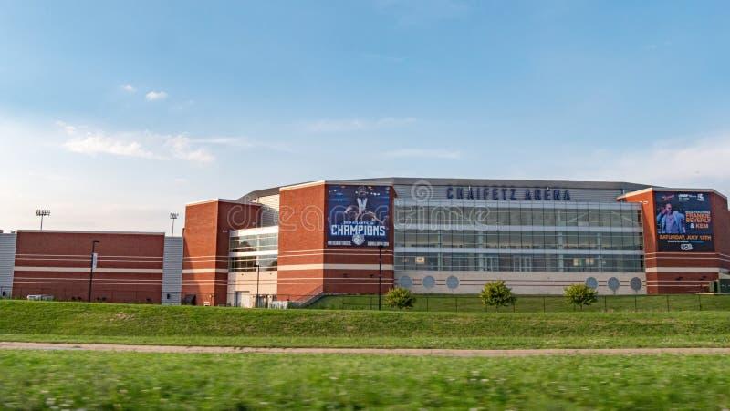 Chaifetz arena przy St Louis śródmieściem - ST LOUIS, usa - CZERWIEC 19, 2019 obrazy royalty free