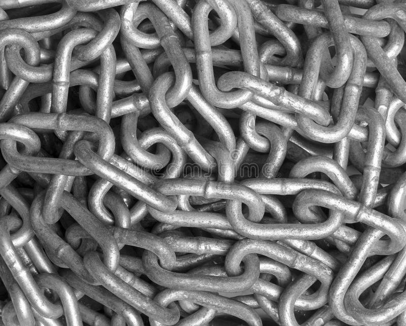 Chain. Close up of metal chain part background royalty free stock photos