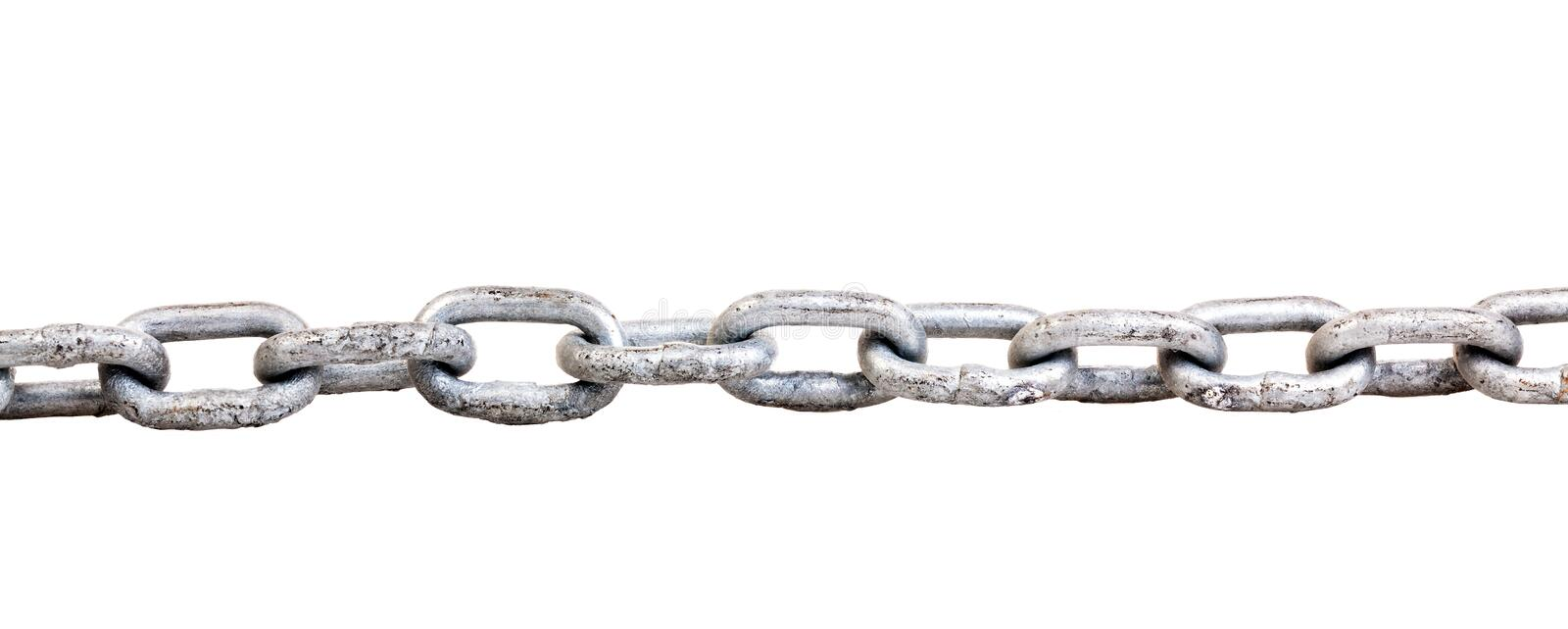 Chain. Metal chain isolated on white background stock photos