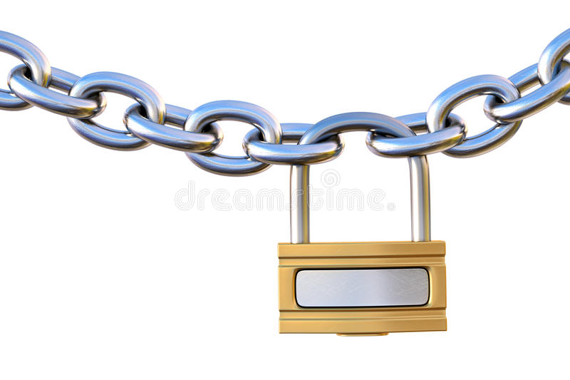 Download Chain stock illustration. Image of golden, backgrounds - 20563725