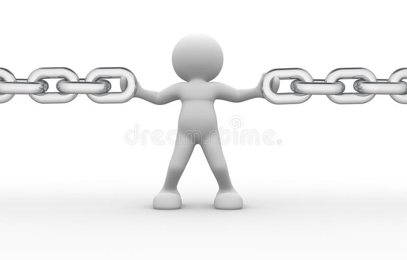 Chain royalty free illustration