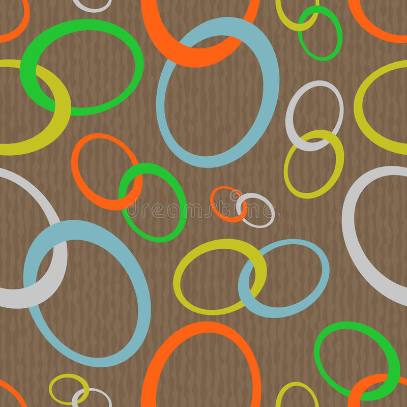 Chain abstract seamless vector illustration
