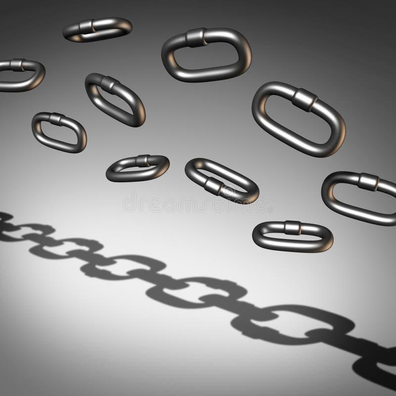 Chain abstrakt begrepp royaltyfri illustrationer