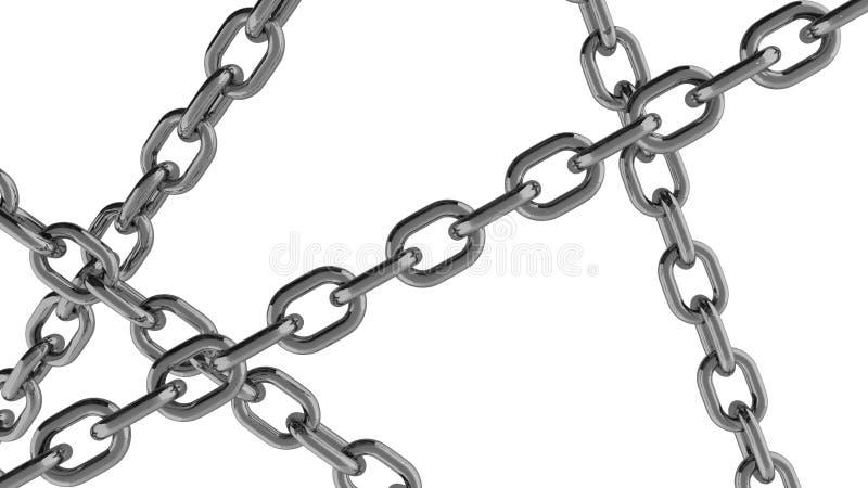 Chain anslutning fodrar över vit bakgrund stock illustrationer