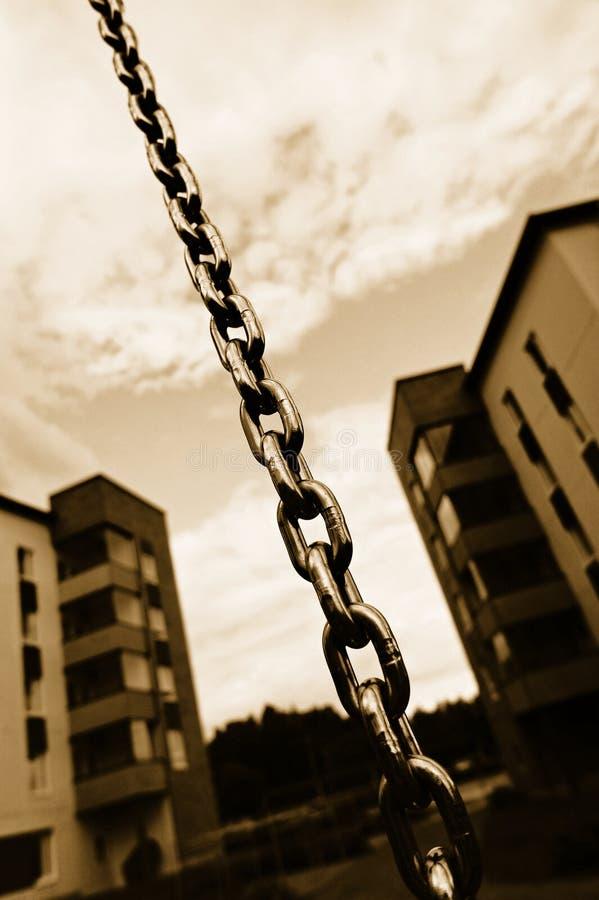 Chain and apartment blocks