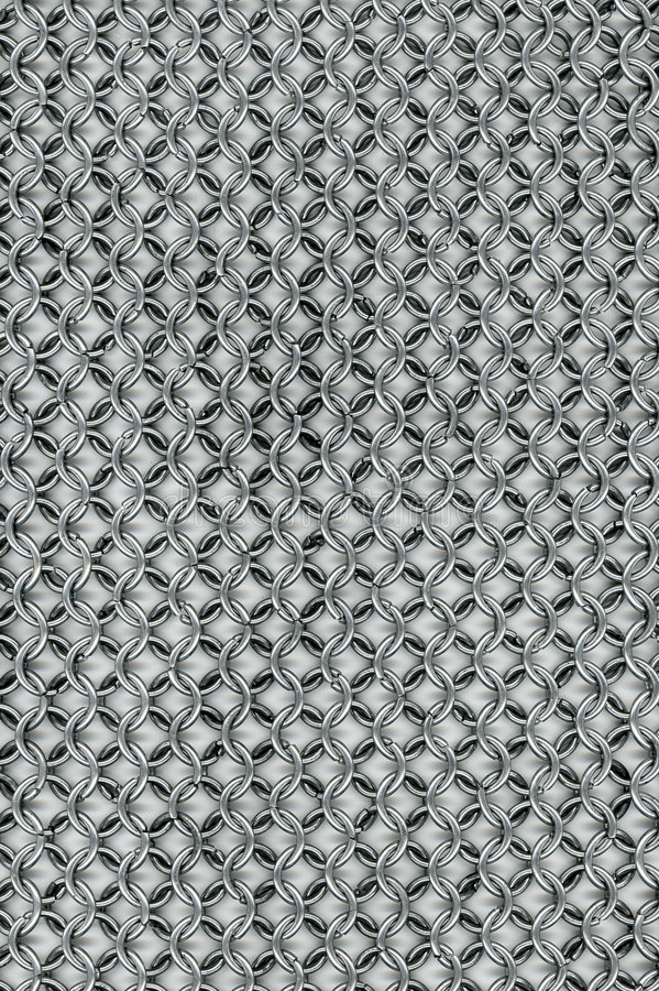 Chain armour stock image