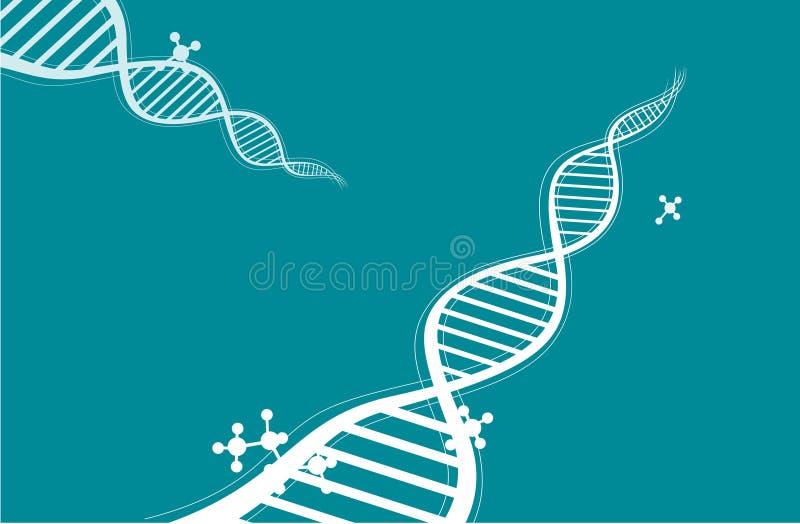 Chain bakgrund för DNA stock illustrationer