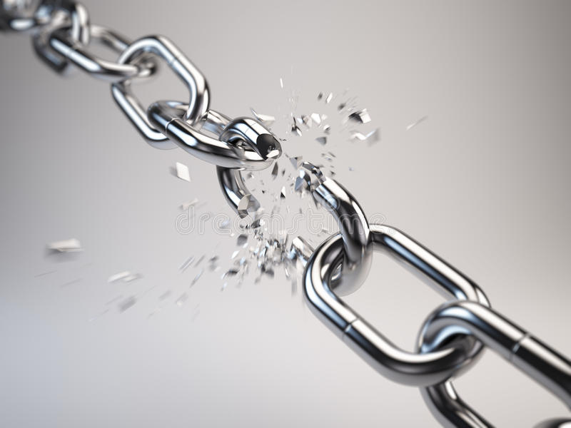 Chain breaking stock illustration