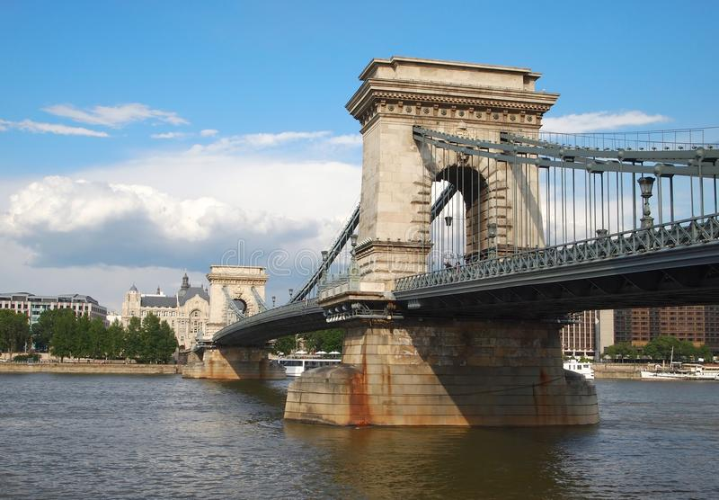 Chain Bridge stock image