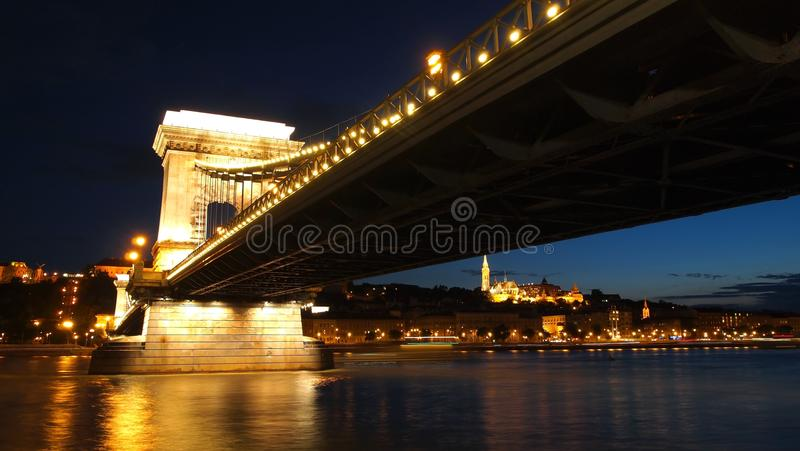 Chain Bridge royalty free stock photos