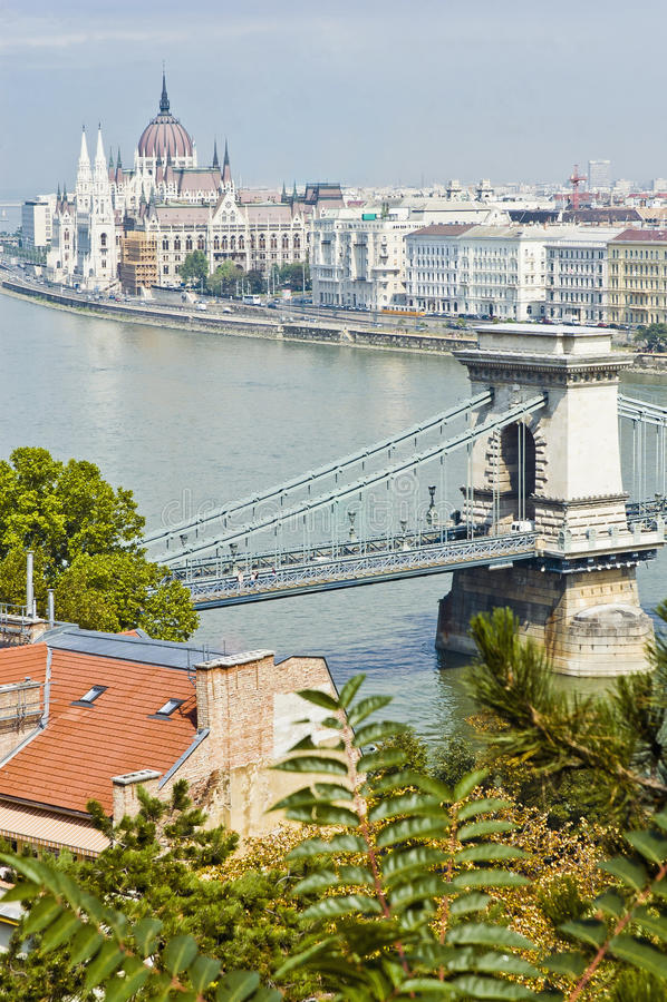 Download Chain Bridge At Budapest, Hungary Stock Image - Image of landmark, tourism: 39509079