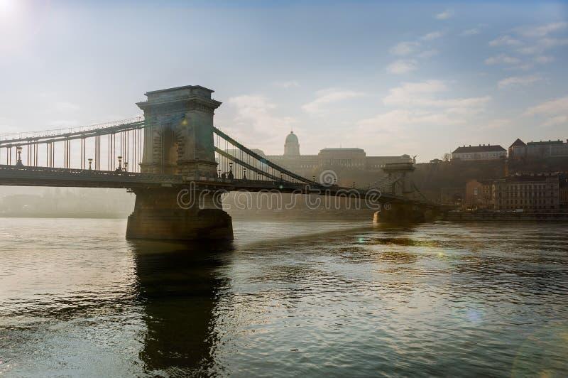 Chain Bridge, Budapest, Hungary royalty free stock photo