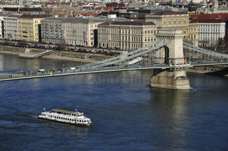 Download Chain Bridge Over The Danube Editorial Photography - Image of danube, hungary: 83884787