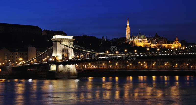 Download Chain Bridge Over The Danube Stock Photo - Image of inaugurated, first: 83885268