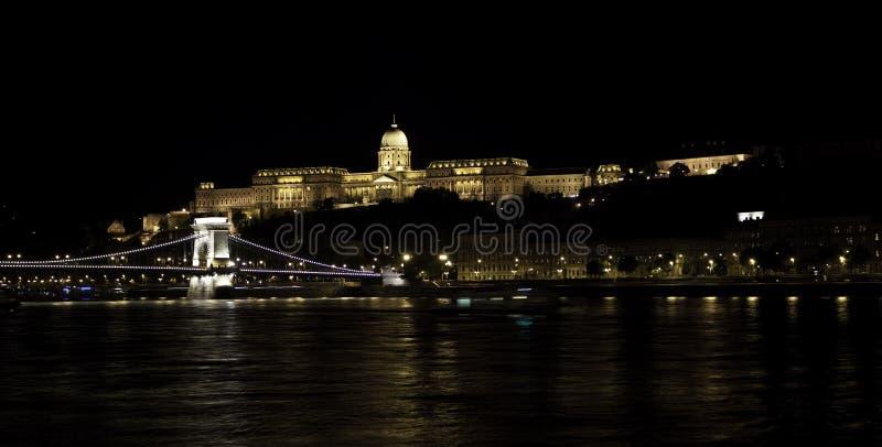 Chain Bridge and Royal Palace stock photos