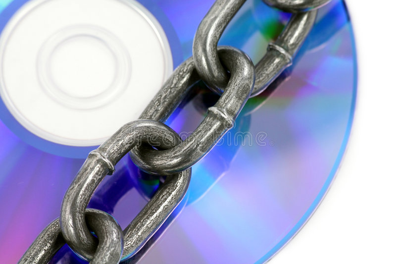 Chain and cd stock photos