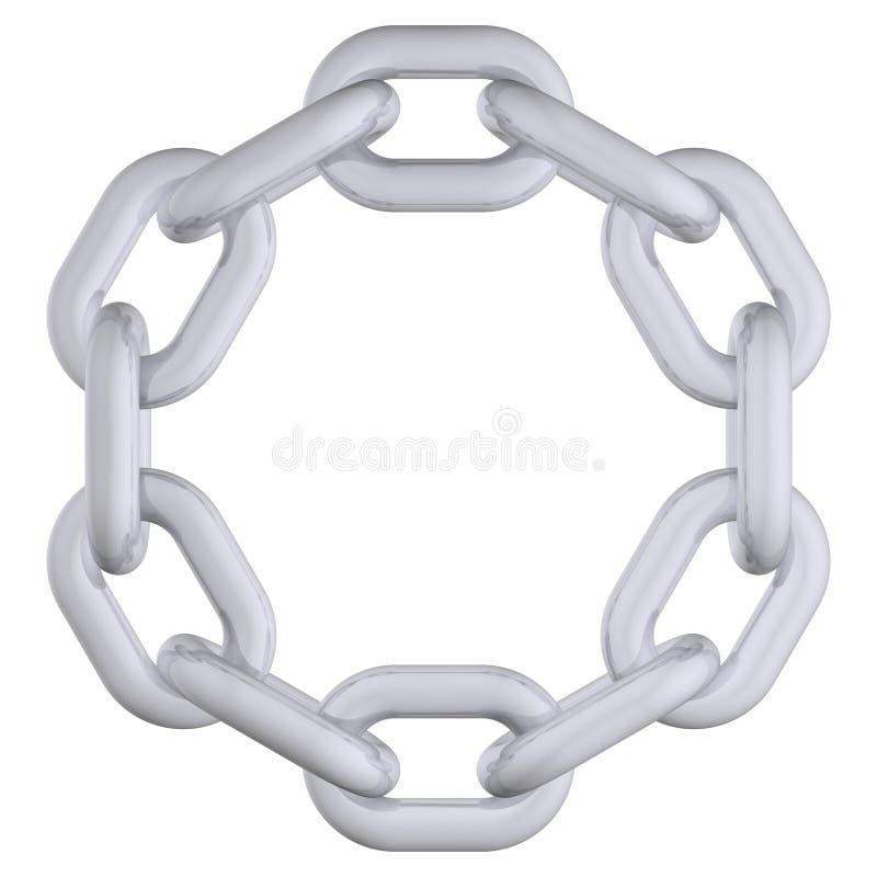 chain cirkel stock illustrationer