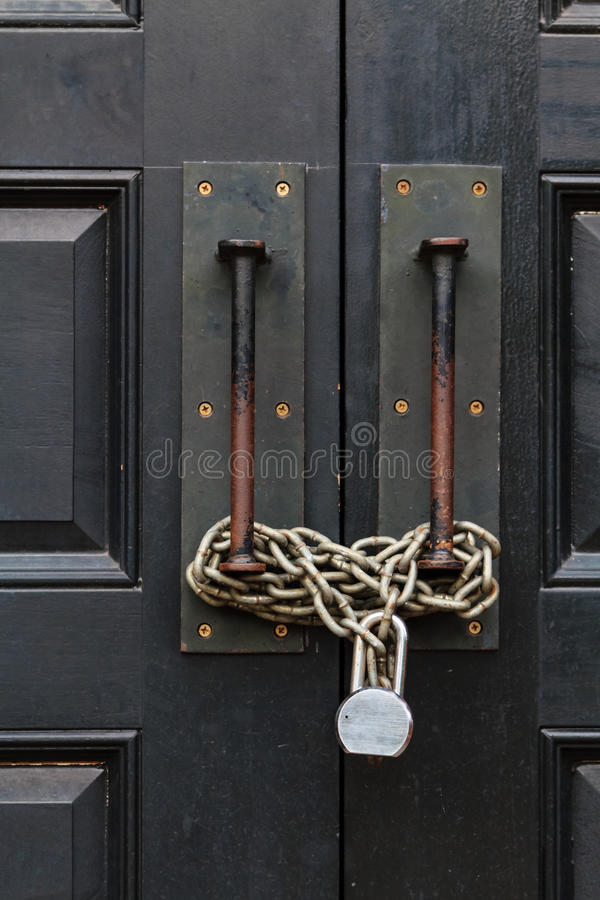 Download Chain closed door stock photo. Image of private, gate - 27749000
