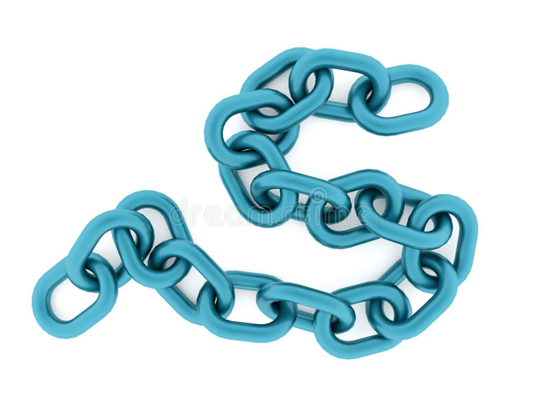 Chain concept rendered on white background. Blue chain concept rendered on white background vector illustration