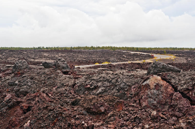 Chain Of Craters Road In Big Island Of Hawaii Royalty Free Stock Photos