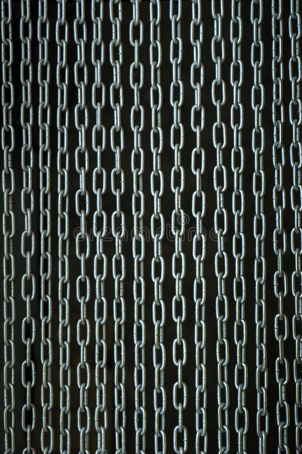 Chain curtain stock image