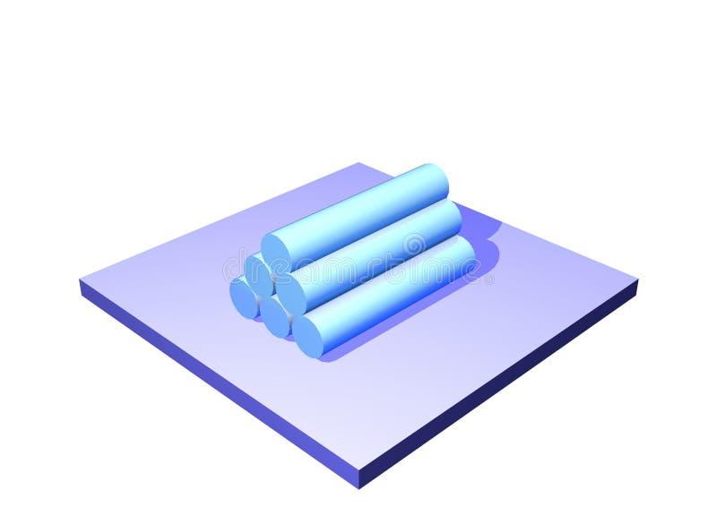 chain diagramlogistiker object produkttillförsel stock illustrationer