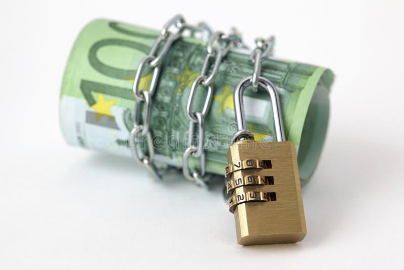 chain eurolåsanmärkningar arkivfoton