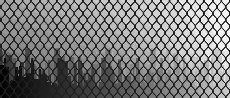 chain fence link 库存例证