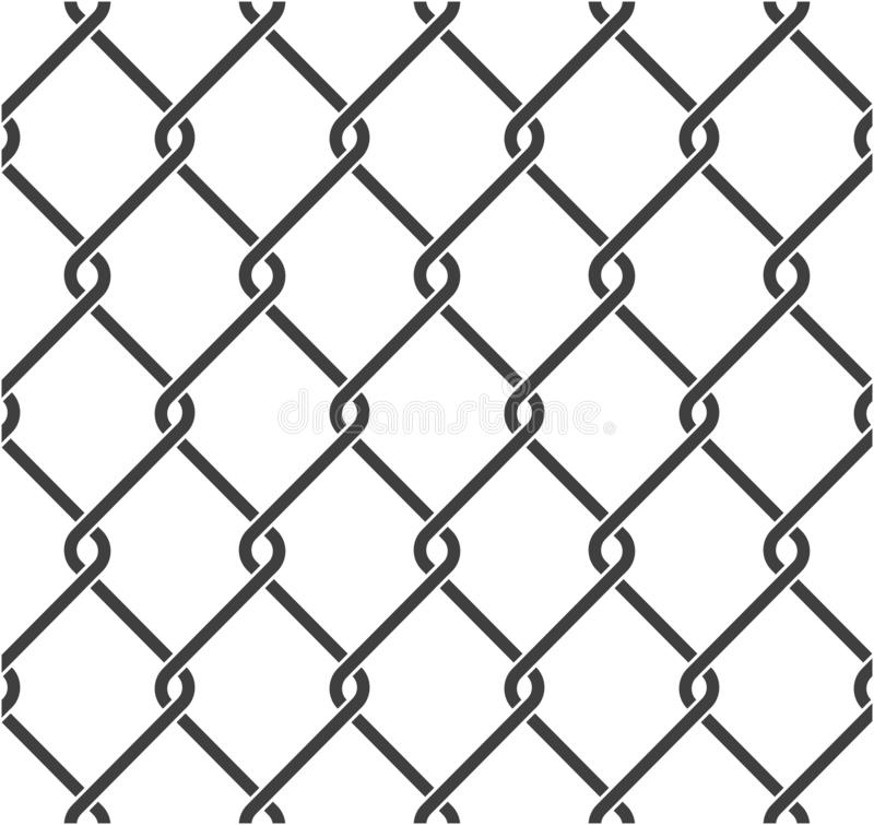 Chain fence royalty free illustration