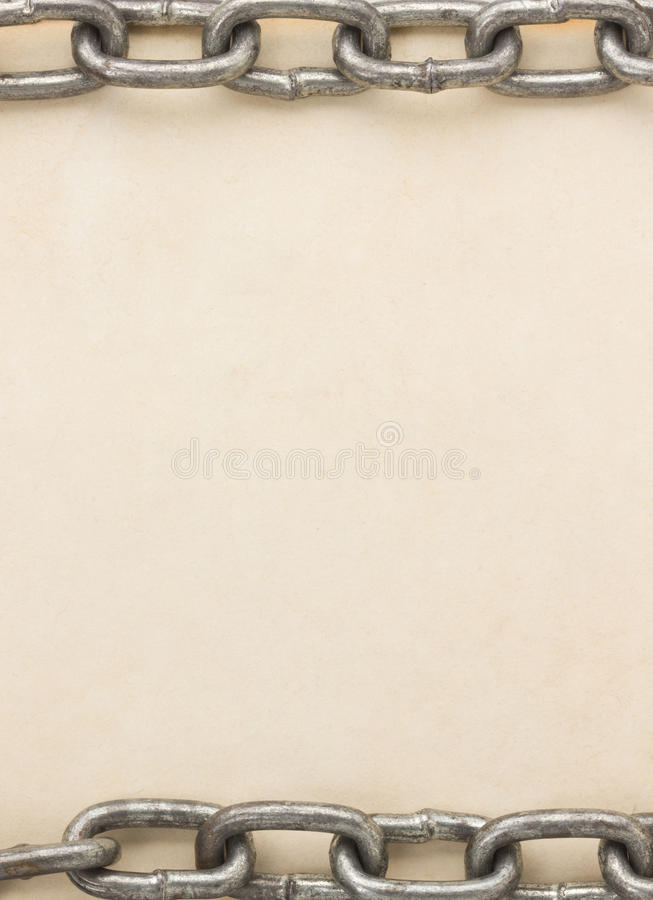 Download Chain Frame On Parchment Texture Stock Photo - Image: 29671328